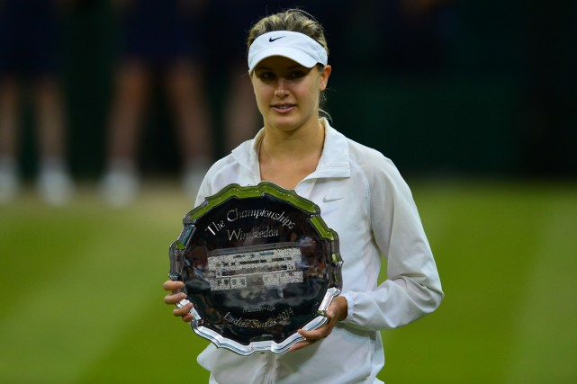 Eugenie Bouchard a atteint la finale à Wimbledon... (Photo Carl Court, archives AFP)