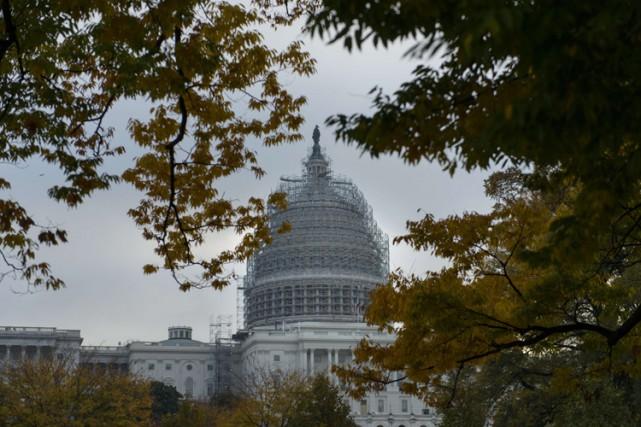 Le Sénat américain, majoritairement démocrate jusqu'en janvier, a... (PHOTO BRENDAN SMIALOWSKI, AGENCE FRANCE-PRESSE)