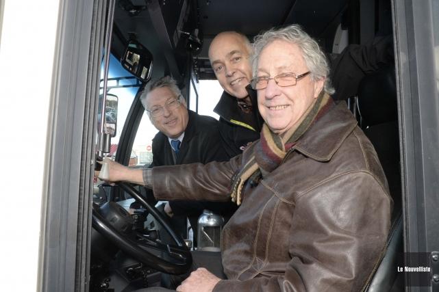 De gauche à droite, André Goudreau, président du... (Photo: Sylvain Mayer Le Nouvelliste)