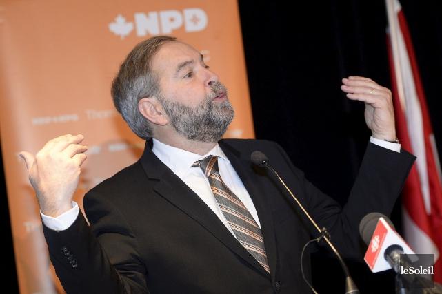 Le chef du NPD Thomas Mulcair... (Photothèque Le Soleil, Jean-Marie Villeneuve)