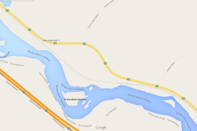 L'accident est survenu dans le secteur des «courbes... (Capture d'écran Google Maps)
