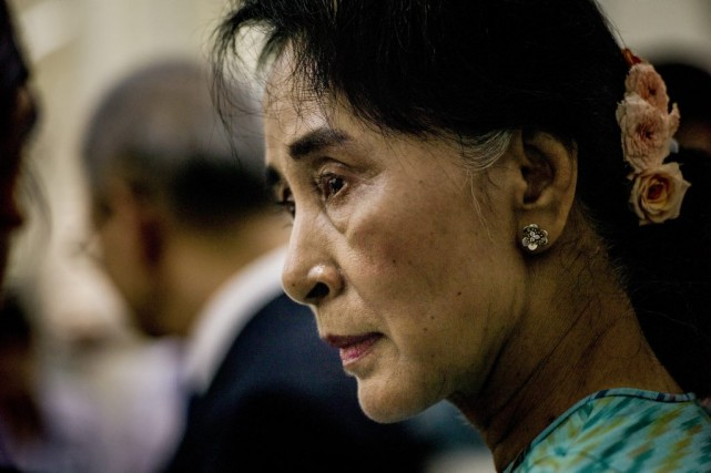 Aung San Suu Kyi, 69 ans, est allée... (PHOTO TOMAS MUNITA, ARCHIVES THE NEW YORK TIMES)