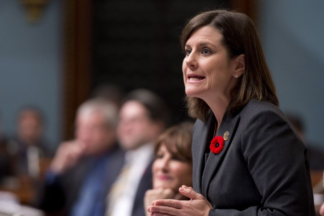 La ministre de la Justice, Stéphanie Vallée.... (PHOTO ARCHIVES LA PRESSE CANADIENNE)