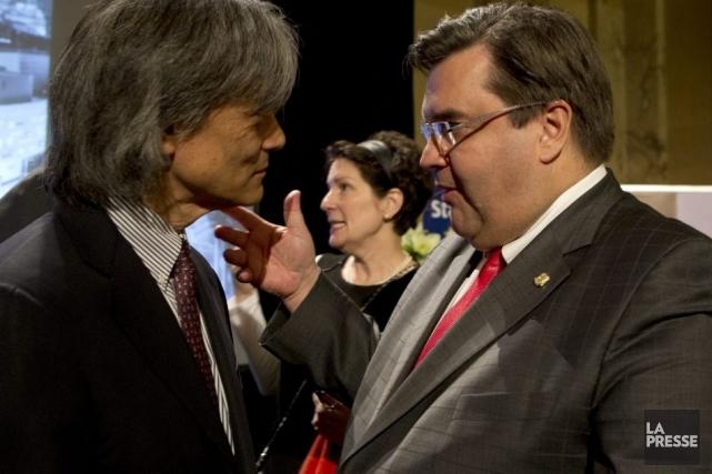 Le chef de l'OSM Kent Nagano et le... (Photo: Olivier Jean, La Presse)