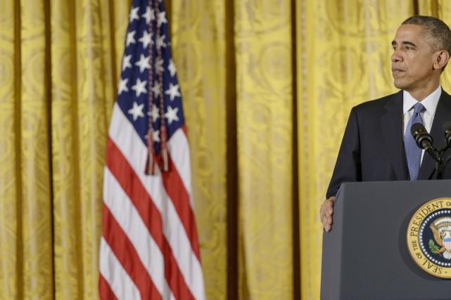 «Demain soir, j'annoncerai depuis la Maison-Blanche les décisions... (PHOTO BRENDAN SMIALOWSKI, AFP)