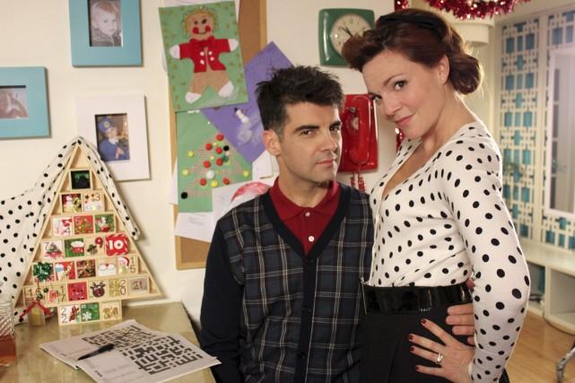 David Savard et Catherine Proulx-Lemay dans À temps... (Photo: fournie par Canal Vie)