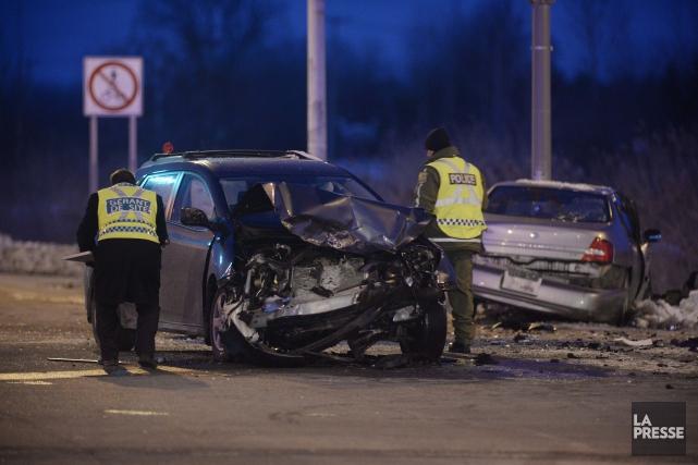 Une violente collision latérale a coûté la vie... (Photo: Sylvain Mayer)