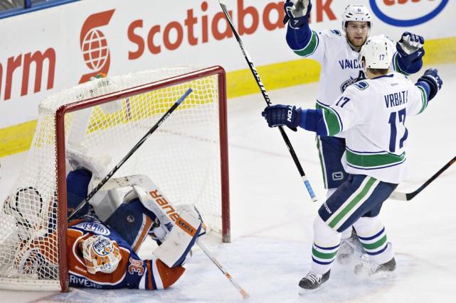 Les Canucks entreprendront un séjour de trois matchs... (Photo La Presse Canadienne)