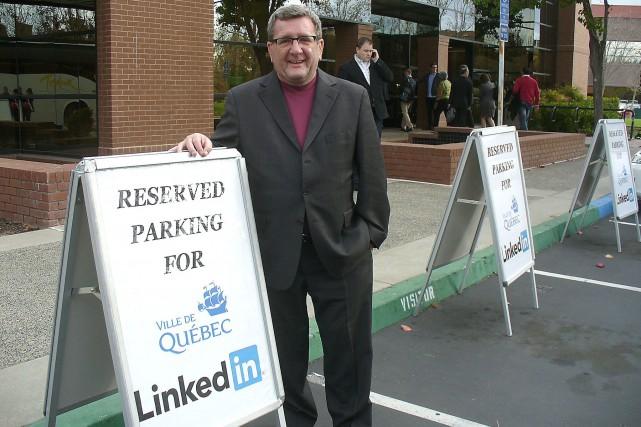 L'entreprise américaine LinkedIn avait réservé des stationnements mercredi... (Collaboration spéciale Stéphanie Martin)