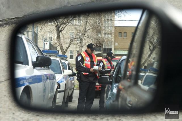 Le Service de police de la Ville de Montréal (SPVM) confirme imposer des quotas... (PHOTO ARCHIVES LA PRESSE)