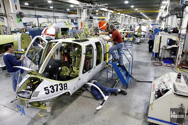 L'usine de Bell Helicopter Textron Canada à Mirabel.... (Photo Robert Skinner, archives La Presse)