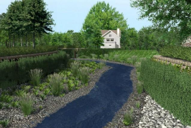 Vue simulée de la rivière Lorette 10 ans... (Illustration Ville de Québec)
