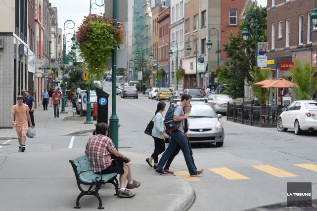 L'Association des gens d'affaires du centre-ville désire remettre sur pied la... (Archives La Tribune, Maxime Picard)
