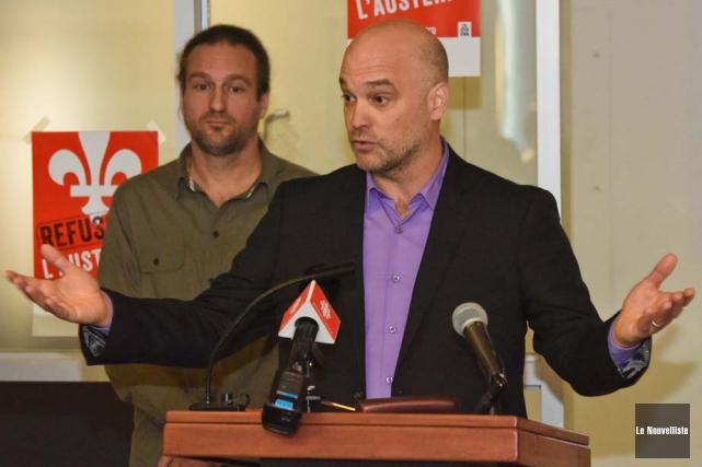 Les syndicats du Cégep de Trois-Rivières et du... (Photo: François Gervais, Le Nouvelliste)
