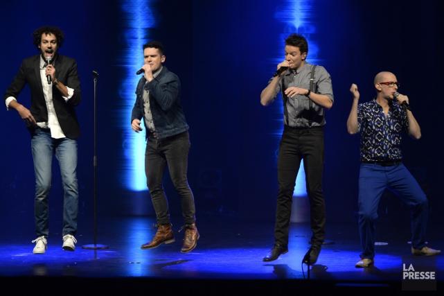 Le quatuor QU4RTZ mêle habilement musique a capella... (Photo: Bernard Brault, La Presse)