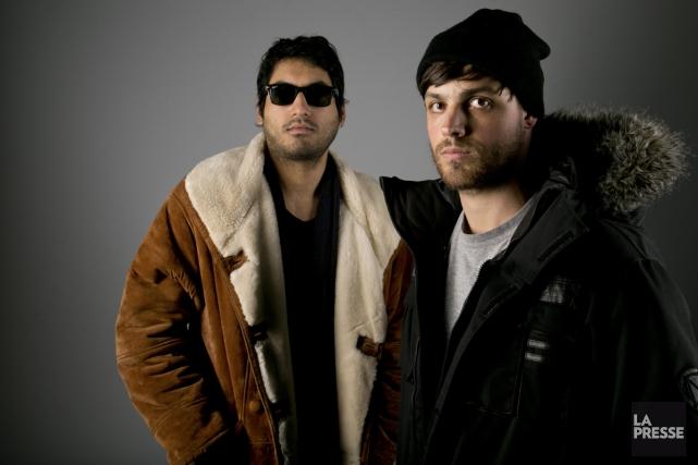 Susil Sharma et Raphaël Bussières, membres du groupe... (Photo: David Boily, La Presse)