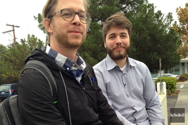 Jonathan Belisle et Vincent Routhier de Saga ont... (Le Soleil, Stéphanie Martin)