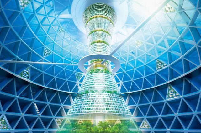 Le projet coûterait 3000 milliards de yens (28,7... (Photo SHIMIZU CORPORATION, AFP)