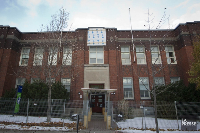 L'école Saint-Bibianedans l'arrondissement Rosemont à Montréal.... (PHOTO IVANOH DEMERS, LA PRESSE)