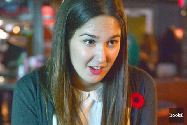 La section Québec des jeunes libéraux du Canada... (PHOTO YAN DOUBLET, LE SOLEIL)