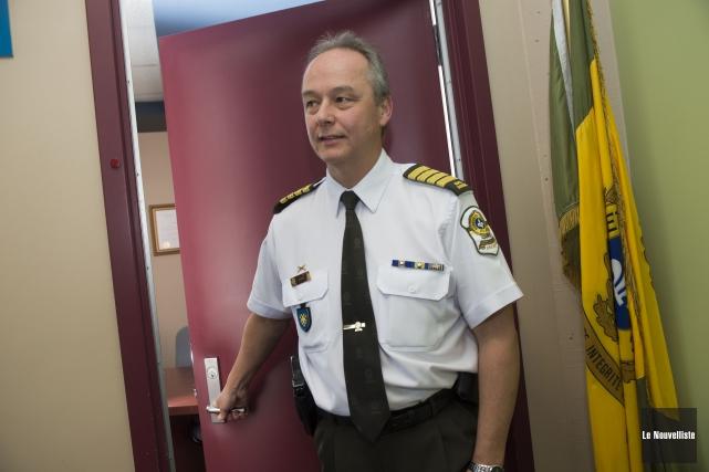 L'ex-inspecteur-chef à la SQ, Yves Guay, assumera l'intérim... (Photo: Stéphane Lessard Le Nouvelliste)