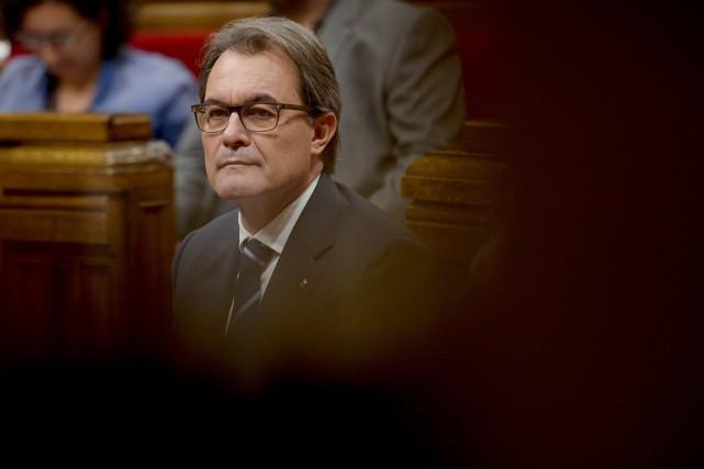 Artur Mas, qui a revendiqué le «droit de... (PHOTO JOSEP LAGO, ARCHIVES AFP)