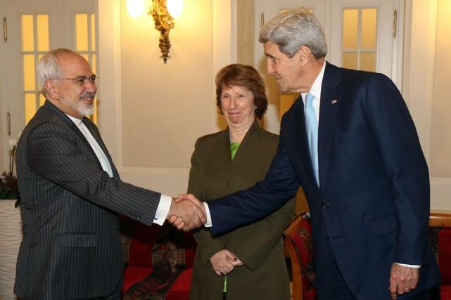 Le ministre des Affaires étrangères américain John Kerry... (PHOTO RONALD ZAK, AFP)
