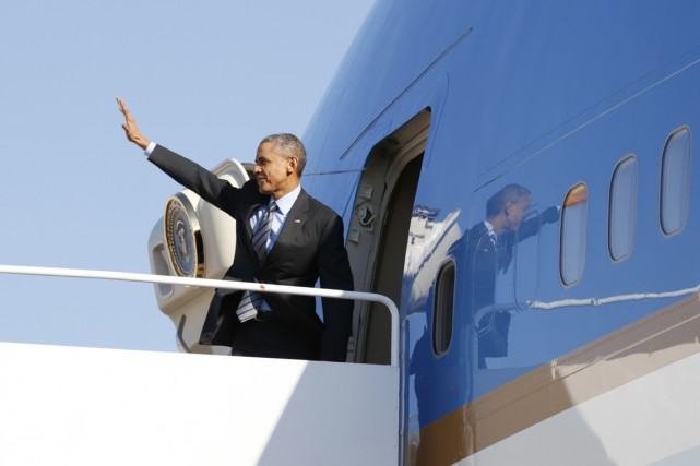 Le président Obama quitte Washington pour Las Vegas,... (PHOTO KEVIN LAMARQUE, REUTERS)
