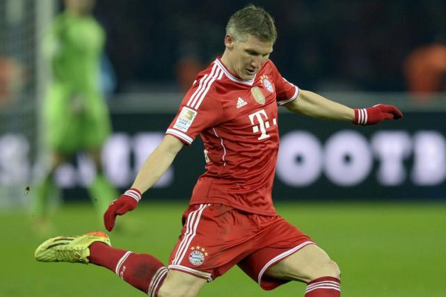 Bastian Schweinsteiger n'a pas encore joué cette saison... (Photo Johannes Eisele, archives AFP)