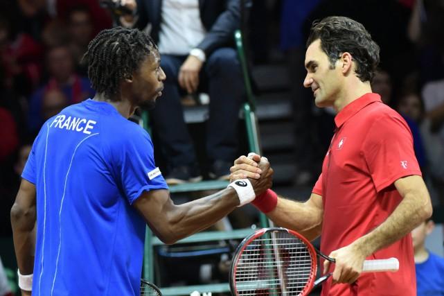 Le Français Gaël Monfils a défait le Suisse... (Photo Philippe Huguen, AFP)