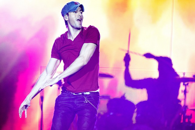 Enrique Iglesias... (Photo: archives AFP)
