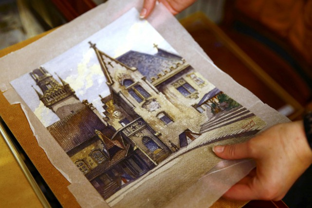 Une aquarelle peinte par Adolf Hitler il y a tout juste 100 ans a été vendue... (Photo: Reuters)