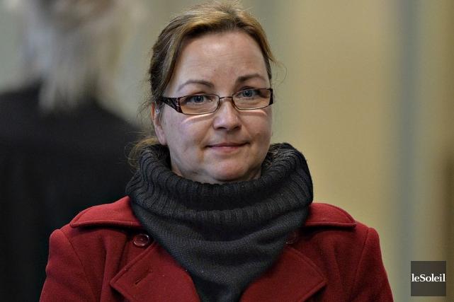 Annie Robin, 49 ans, de Saint-Flavien... (Le Soleil, Patrice Laroche)