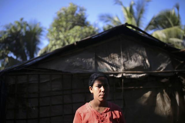 Une femme de la minorité musulmaneapatride des Rohingyas... (Photo REUTERS)