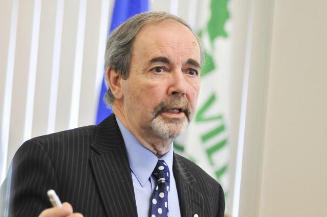 Jean-Guy Dubois, maire de Bécancour.... (Émilie O'Connor)