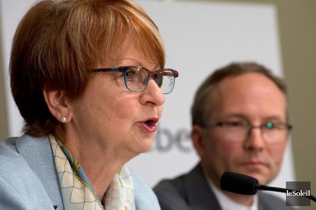 Le rapport de l'ex-ministre, Lucienne Robillard, ici en... (Photothèque Le Soleil)