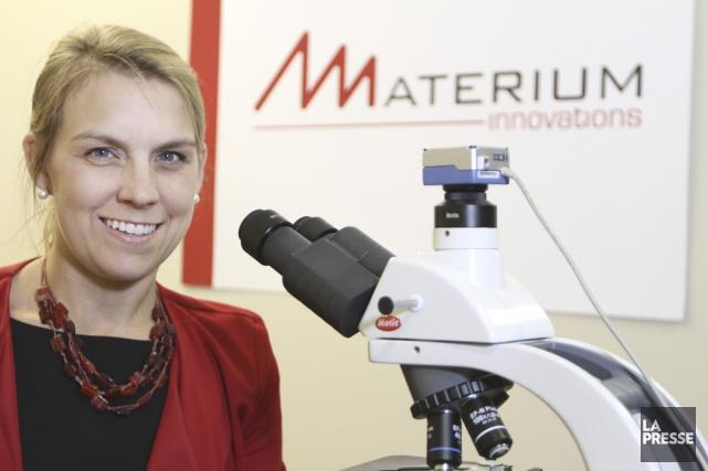 «Materium a été créé pour l'industrie du textile,... (photo Stéphane Champagne, La Presse)