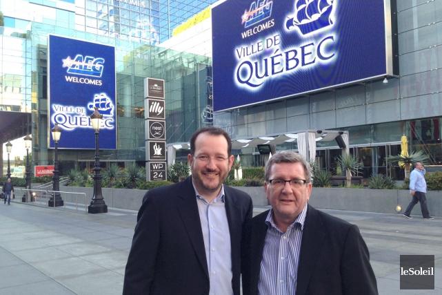 Le maire de Québec, Régis Labeaume, a rencontré... (Le Soleil, Stéphanie Martin)