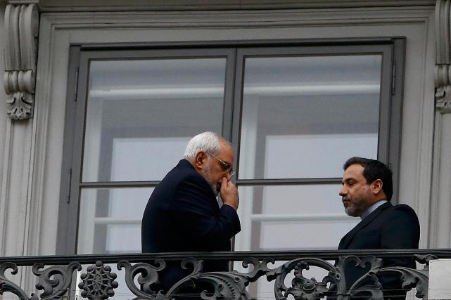 Le chef de la diplomatie iranienne Mohammad Javad... (PHOTO LEONHARD FOEGER, REUTERS)