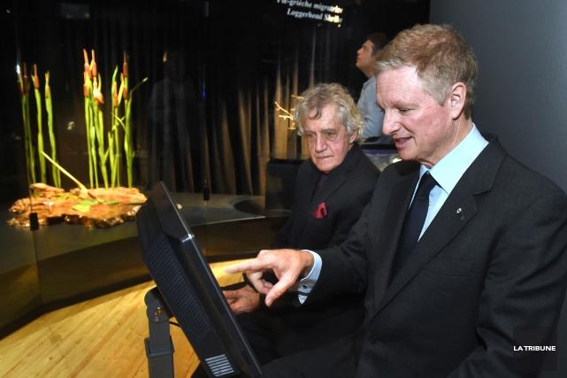 L'homme d'affaires Paul Desmarais fils (à droite) ne... (IMACOM, Maxime Picard)