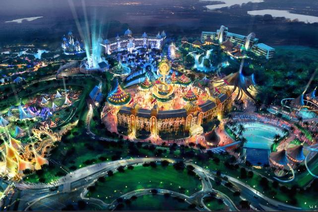 Le nouveau «parc thématique immersif», situé à Nuevo... (Illustration fournie par le Cirque du Soleil)