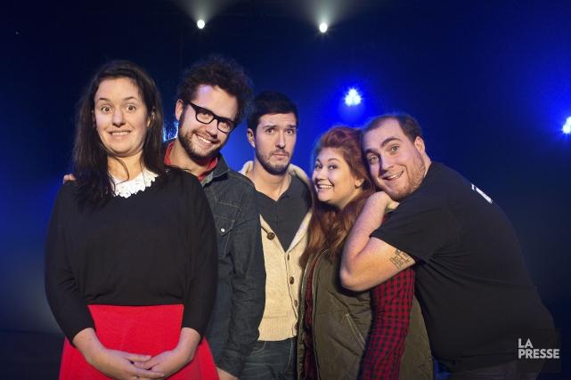 Les 5 prochains, cinq humoristes à la personnalité... (PHOTO ROBERT SKINNER, LA PRESSE)