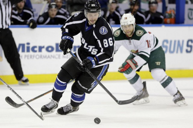 Lightning de Tampa Bay a gagné 2-1, samedi,... (Photo Chris O'Meara, AP)