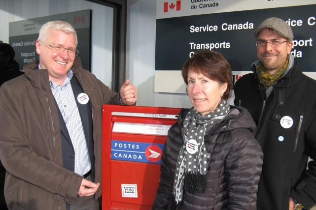 Le député néo-démocrate de Gaspésie-Îles-de-la-Madeleine, Philip Toone, ainsi... (Collaboration spéciale Geneviève Gélinas)