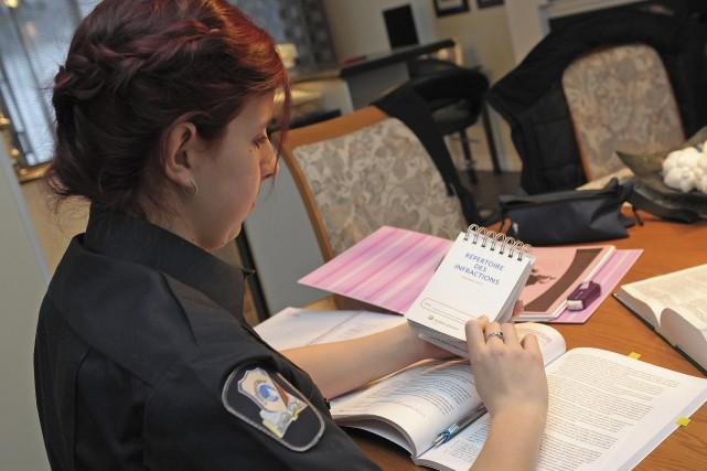 Marjorie Fortin amorce des études en techniques policières.... ((Photo Gimmy Desbiens))