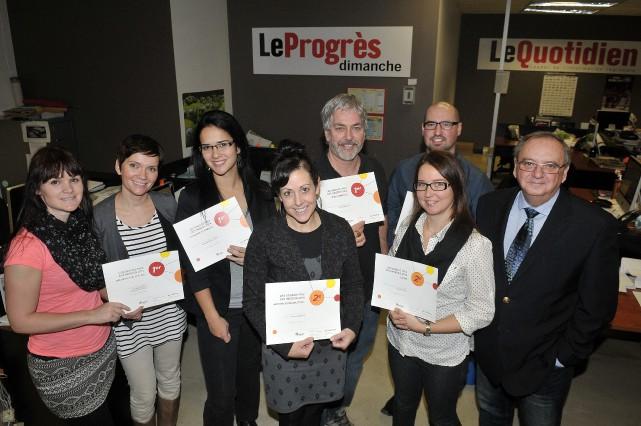 Voici les gagnants des Grands prix des Hebdos... ((Photo Rocket Lavoie))