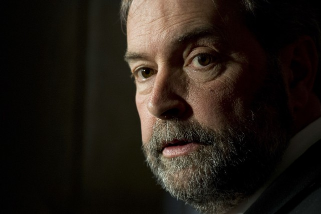 Le chef du NPD, Thomas Mulcair.... (PHOTO ADRIAN WYLD, ARCHIVES LA PRESSE CANADIENNE)