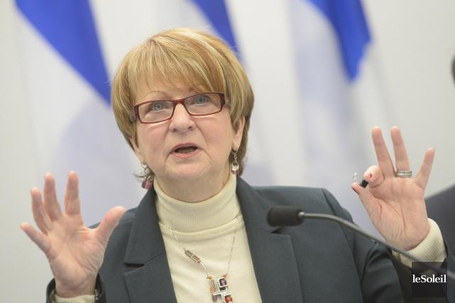 Lucienne Robillard, présidente de la Commission de révision... (Le Soleil, Jean-Marie Villeneuve)