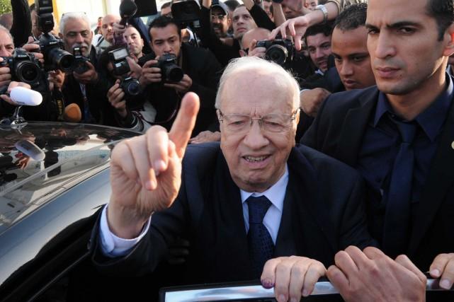 Le chef du parti Nidaa Tounès, Béji Caïd... (Photo Mohamed Werteni, AP)