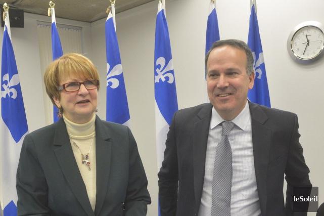 Lucienne Robillard a présenté son rapport avec l'économiste... (PHOTO JEAN-MARIE VILLENEUVE, LE SOLEIL)